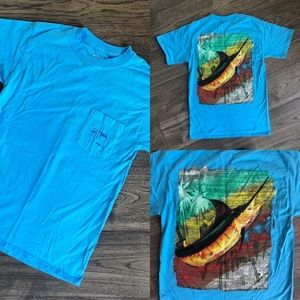 Guy Harvey Blue Swordfish T-Shirt - EUC